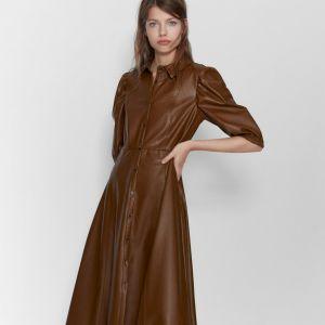 Sukienka ze sztucznej skóry Zara