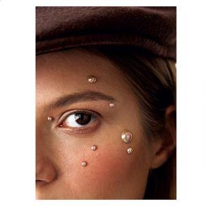 Makijaż z perłami