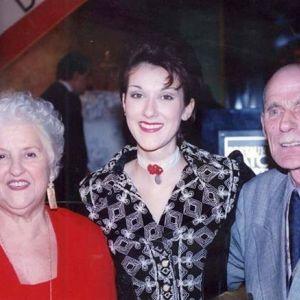 Celine Dion z rodzicami