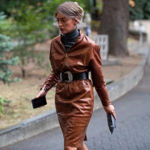 Modna skórzana sukienka: trendy moda wiosna 2020