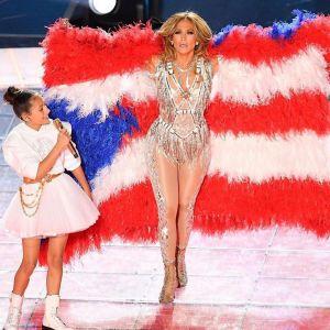 Jennifer Lopez z córką na Super Bowl 2020