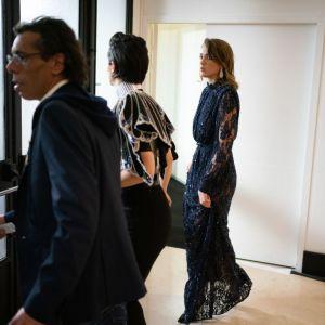 Adèle Haenel  wychodzi z sali po nagrodzeniu Polańskiego