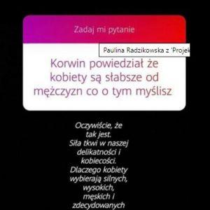 screen ze stories Pauliny Radzikowskiej