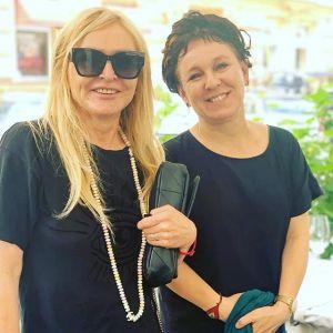 Olga Tokarczuk i Monika Olejnik