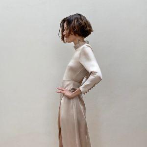 Satynowa sukienka z limitowanej kolekcji Zara - cena 399 zł