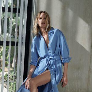 Sukienka Zara - niebieska szmizjerka - cena 199 zł
