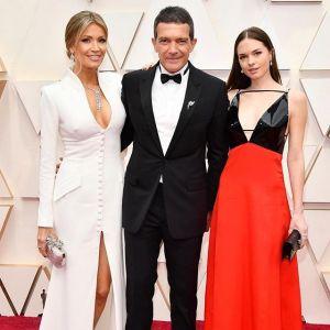 Antonio Banderas z córką Stellą i partnerką Nicole Kimpel