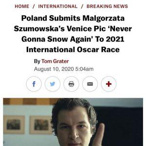 """""""Śniegu już nigdy nie będzie"""" kandydatem do Oscara 2021"""