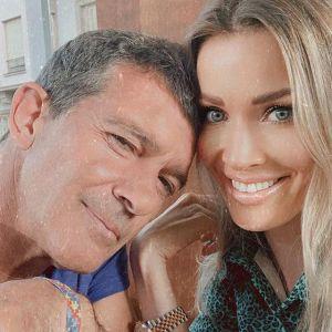 Antonio Banderas z partnerką Nicole Kimpel