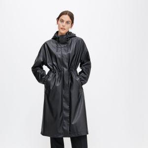 Trendy na jesień 2020 - czarny płaszcz z eko skóry Reserved