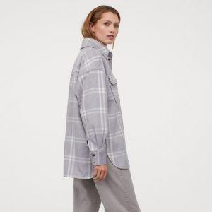 Trendy na jesień 2020 - gruba koszula w kratę filcowa H&M