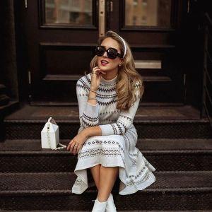 Modne swetrowe sukienki - dzianinowe sukienki na chłodniejsze dni