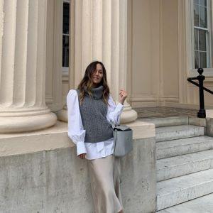 Stylówka z Instagrama - kamizelka z golfem, bluzka z bufkami i odrobina lata