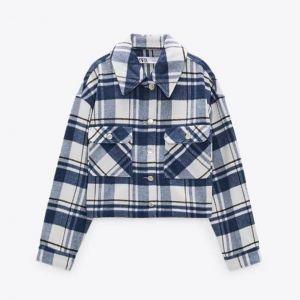 Koszulowa kurtka w kratkę z Zary