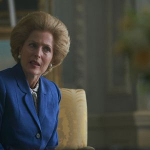 The Crown sezon 4. - Gillian Anderson w roli premier Margaret Thatcher
