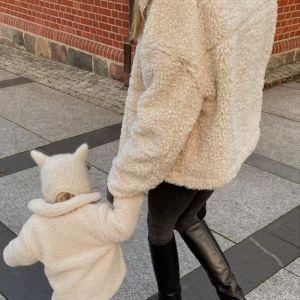 Zimowe stylizacje. Kasia Tusk w kurtce typu MIŚZimowe stylizacje. Kasia Tusk i jej córeczka w kurtkach typu MIŚ