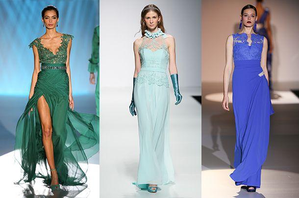 7358137287 Kolorowe suknie ślubne - błękity i zielenie - Kobieta.pl