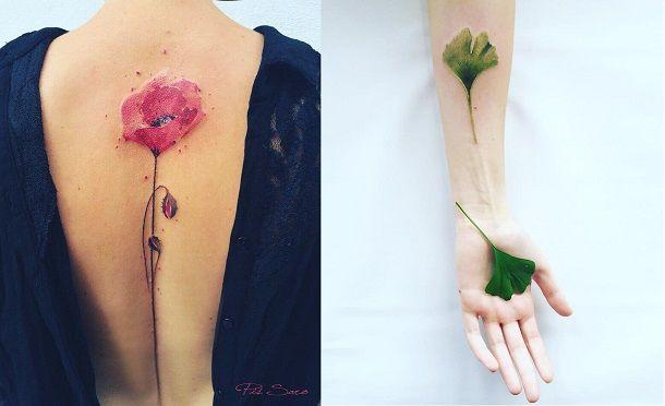 Tatuaże Na Lato Tatuaże Roślinne Kobietapl