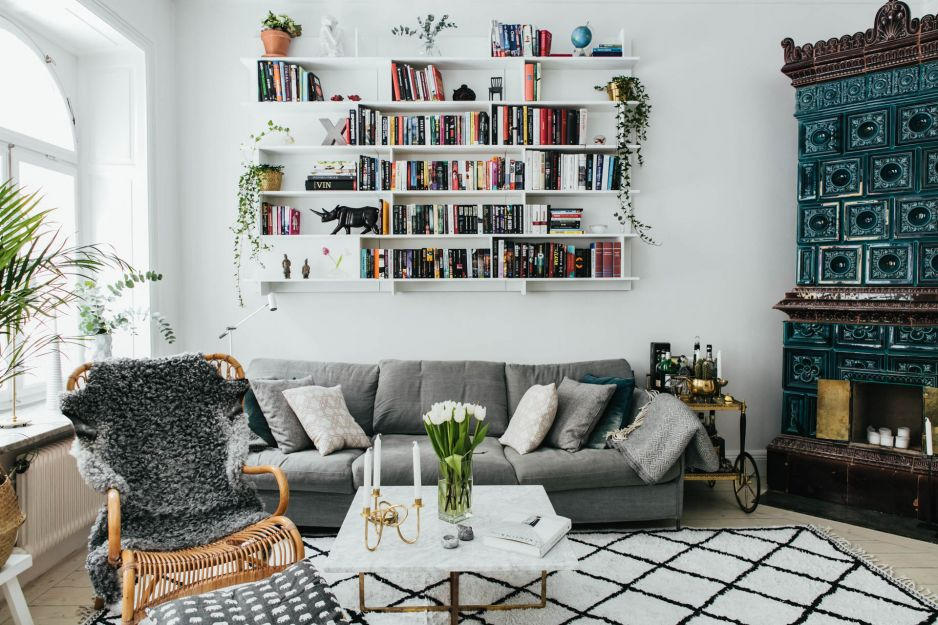 Mieszkanie w Sztokholmie skandynawski styl wnętrz