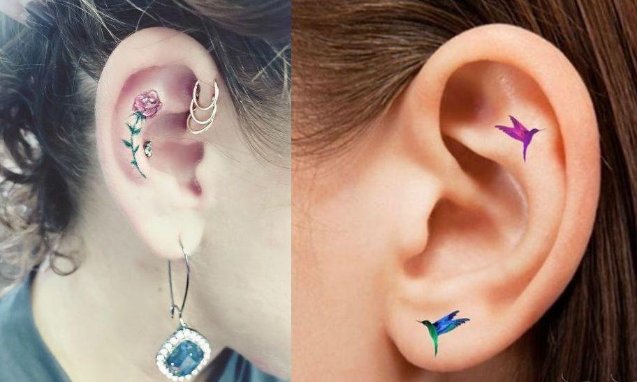 Tatuaże Na Uchu Wzory Kobietapl