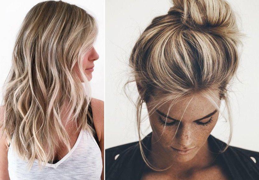 Pasemka Blond We Włosach Kobietapl