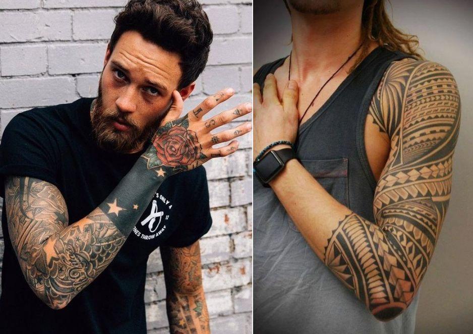 Tatuaż Męski Rękaw 22 Top Wzorów Tatuaży Na Ramieniu