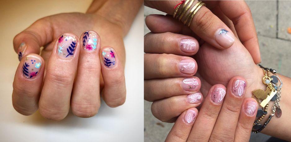 Wzorki na paznokcie: kwiaty