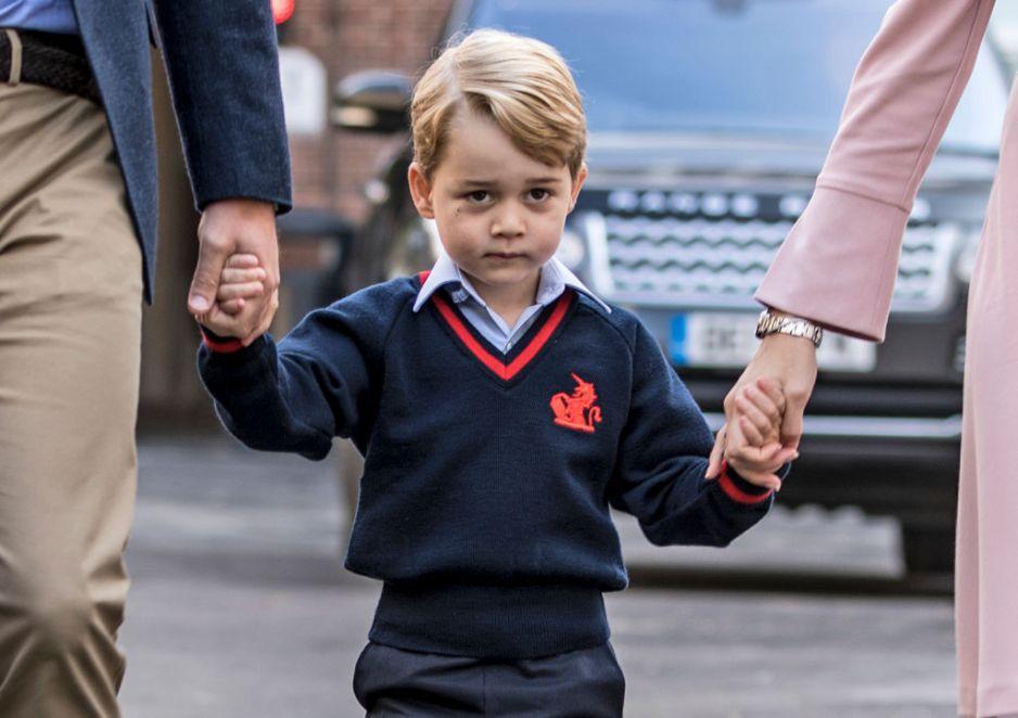 Książę George pierwszy dzień szkoły