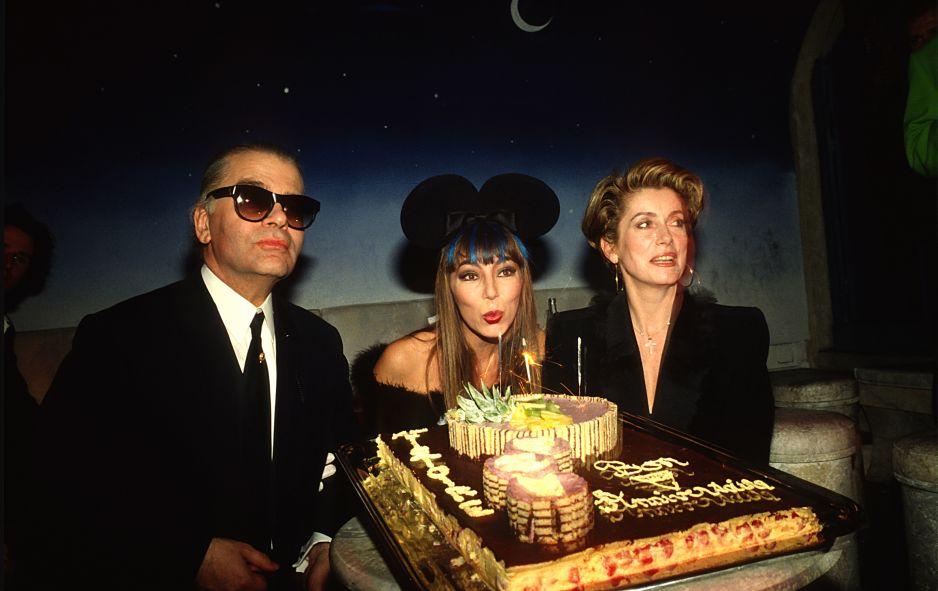 Karl Lagerfeld i Catherine Deneuve