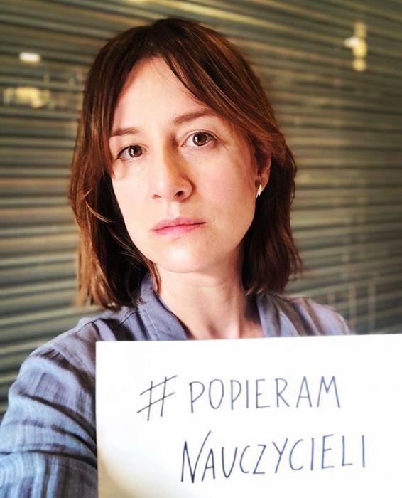 Maja Ostaszewska popiera strajk nauczycieli