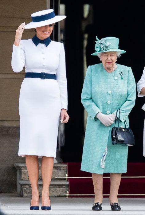Melania Trump i Królowa Elżbieta II