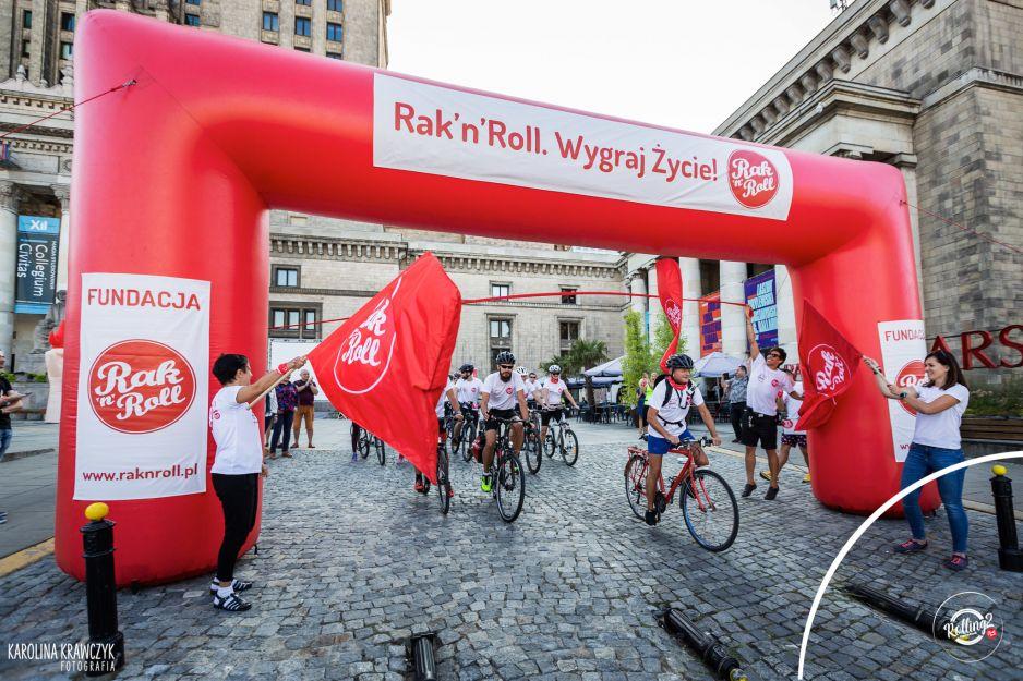 Tak wyglądała start uczestników trasy rowerowej
