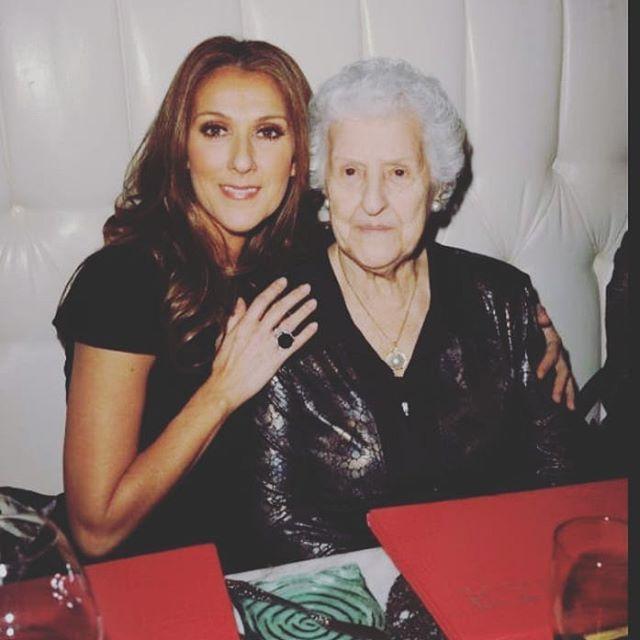 Celine Dion z mamą Theresą Dion