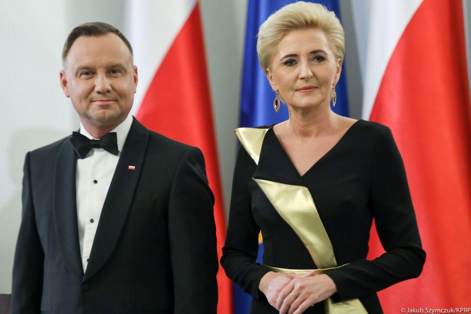 Niezwykły strój polskiej Pierwszej Damy: Agata Duda wyglądała olśniewająco!