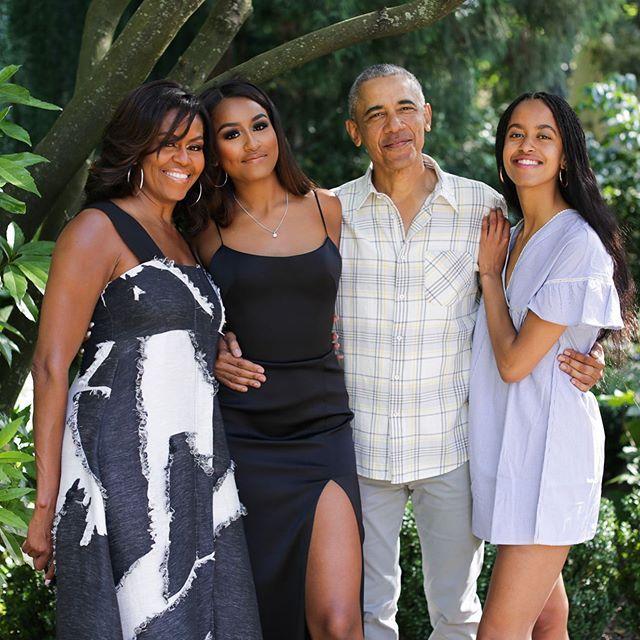 Michelle Obama z rodziną