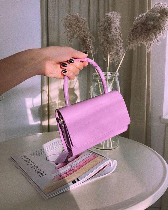 Mandel, limitowana edycja Almond Bag Micro Lilac