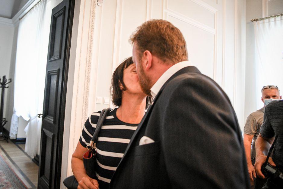 Łukasz Szumowski z żoną