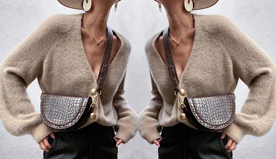 Moda na jesień 2020 - sweter w stylu vintage