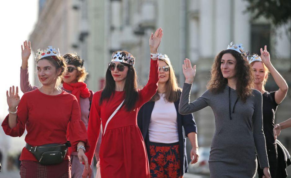 Protesty kobiet na Białorusi