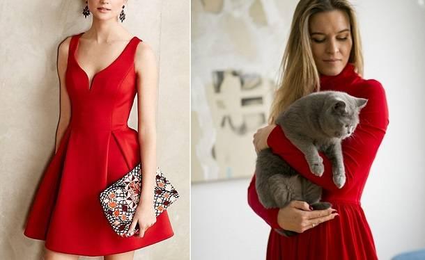 1. Zdjęcie  - Jak nosić czerwoną sukienkę?