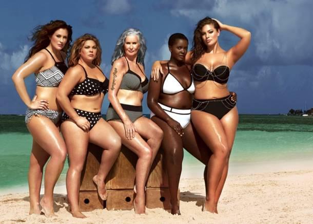 1. Zdjęcie  - Modelki plus size namawiają do noszenia bikini!