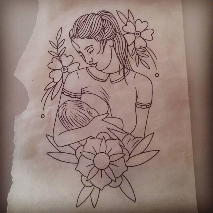 Tatuaże Poświęcone Karmieniu Piersią Karmienie Piersią