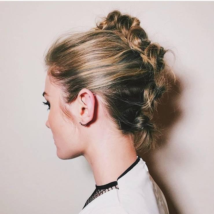 Fryzura ślubna dla krótkich włosów - koki - 17 oszałamiających fryzur ślubnych dla KRÓTKICH włosów