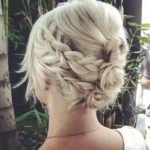 Fryzura ślubna dla krótkich włosów z warkoczami - 17 oszałamiających fryzur ślubnych dla KRÓTKICH włosów
