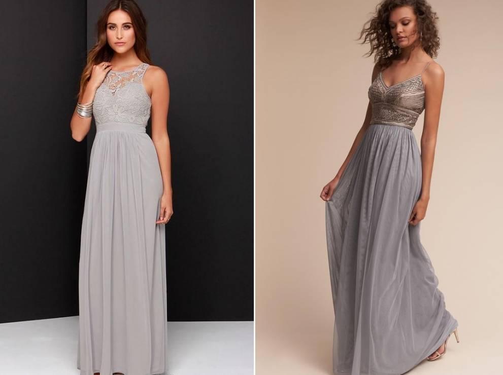 9347afe6c0 Szare sukienki na wesele dla druhny - Sukienki na wesele dla druhny - 10  TOP trendów