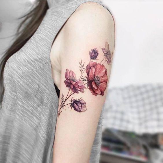 Tatuaż Damski Kwiaty Tatuaże Damskie 2019 Nowe Trendy