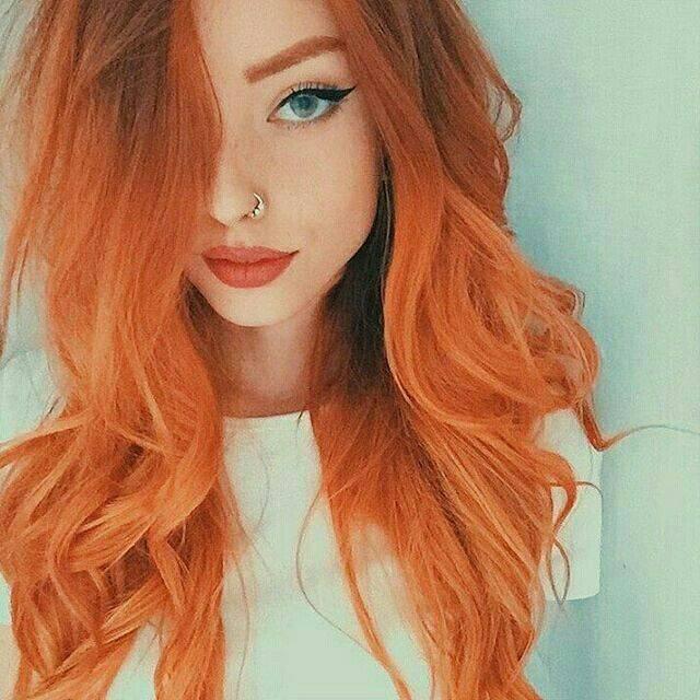 Pomarańczowe Włosy 5 Niemodnych Kolor 243 W Włos 243 W