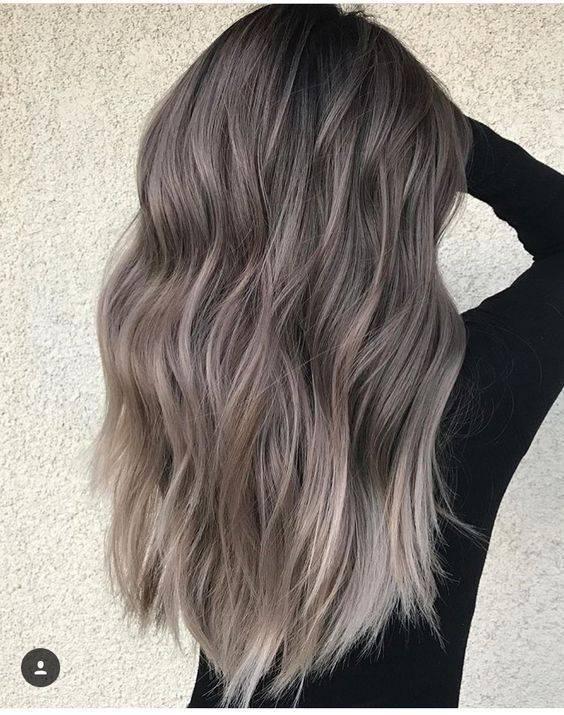 Włosy Ombre Szarości Włosy Ombre Najgorętsze Kolory 2018