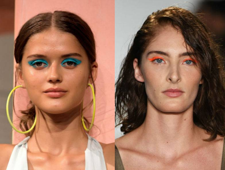 modny makijaż kolor