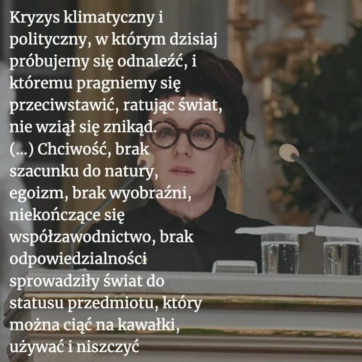 Olga Tokarczuk Najważniejsze Cytaty Z Mowy Noblowskiej